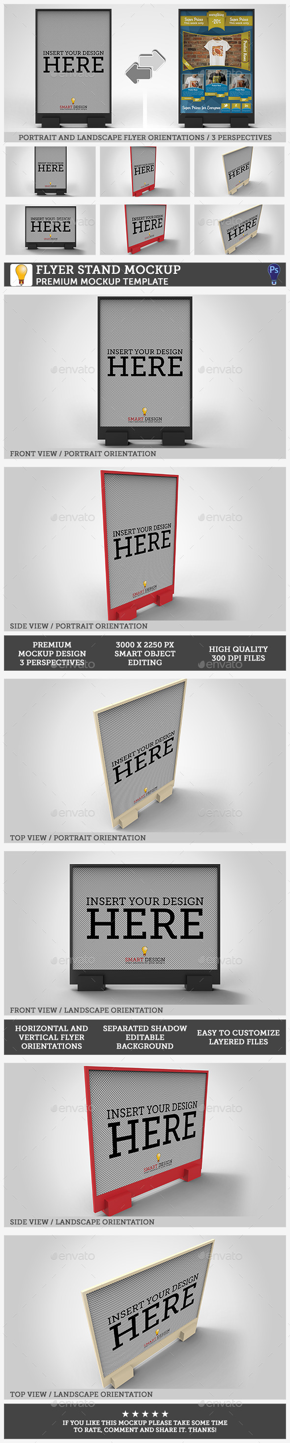 GraphicRiver Flyer Stand Mockup 10717656