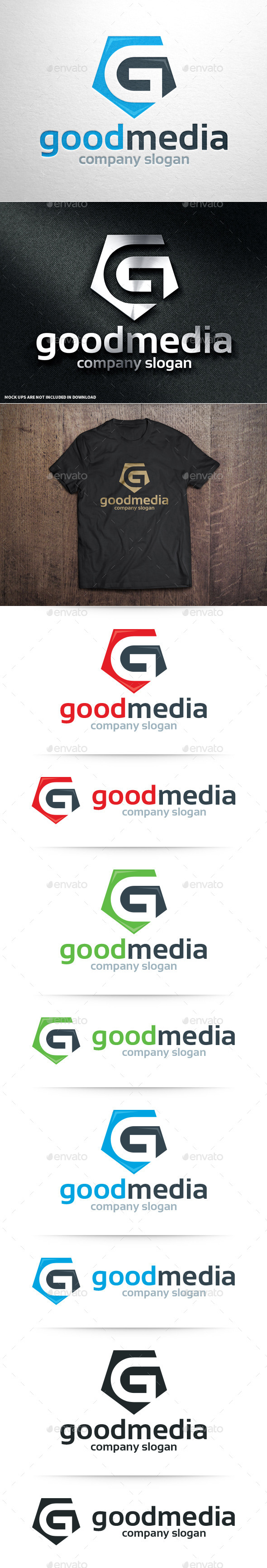 GraphicRiver Good Media Letter G Logo 10717719