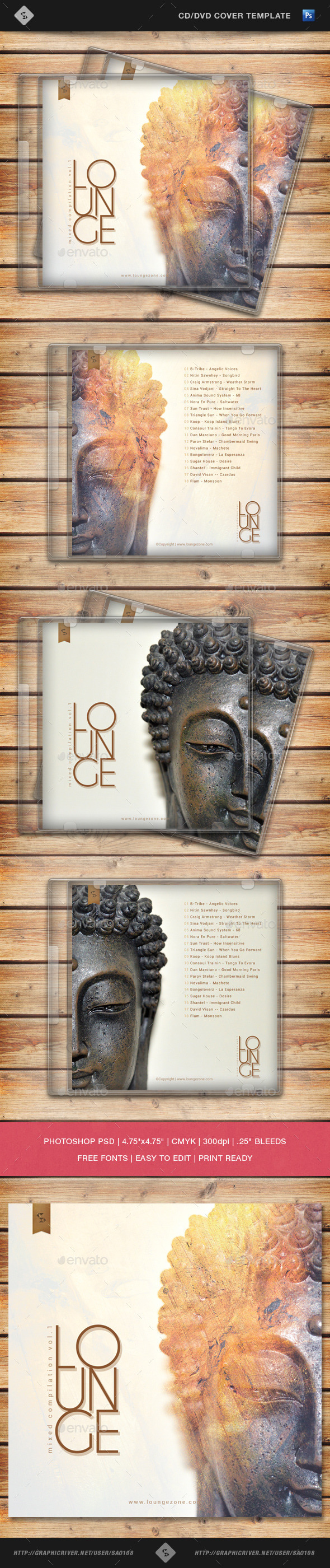 GraphicRiver Lounge Music Compilation CD Cover Template 10717809