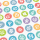 Set of Line Vector Icons with Bacteria and Germs - GraphicRiver Item for Sale