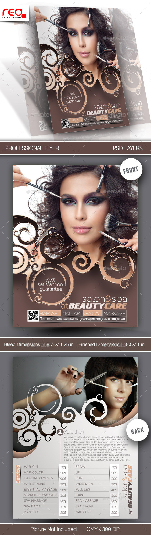 GraphicRiver Beauty Care Flyer Template 10718245