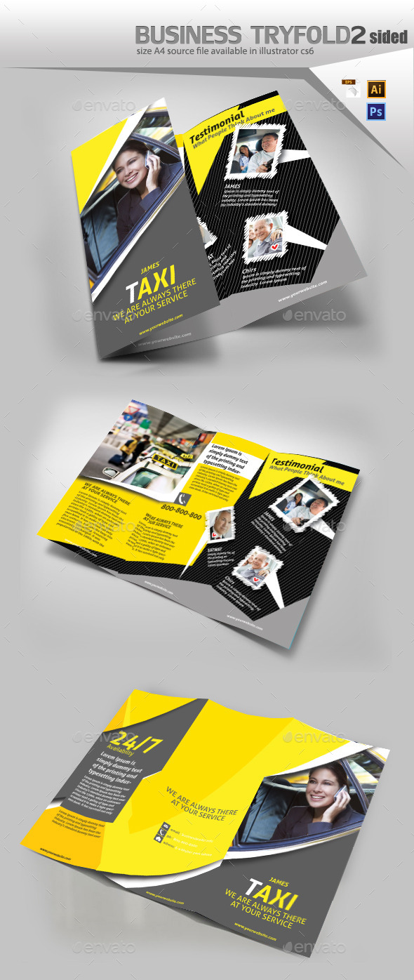 GraphicRiver Texi Drivers Brochure 10718338