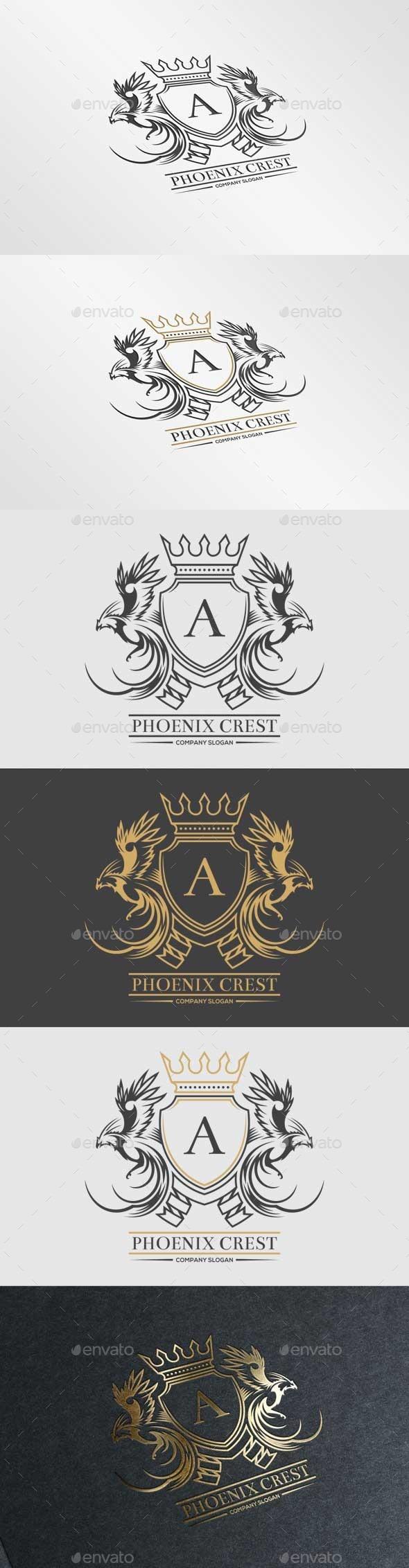 GraphicRiver Phoenix Crest Logo 10718367