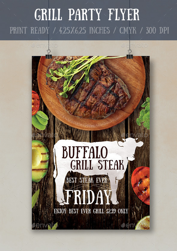 GraphicRiver Grill Party Flyer Poster Template 10718374