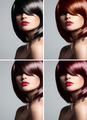 Collage Of A Beautiful Young Woman With Mixed Color Hair - PhotoDune Item for Sale