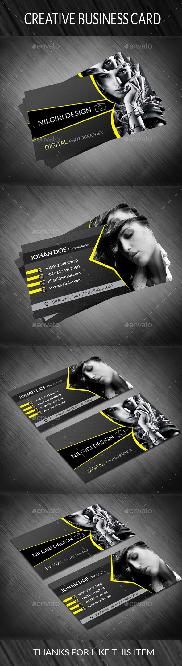GraphicRiver Photography Business Card 2 10718482