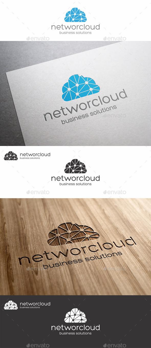 GraphicRiver Network Cloud Logo 10718622