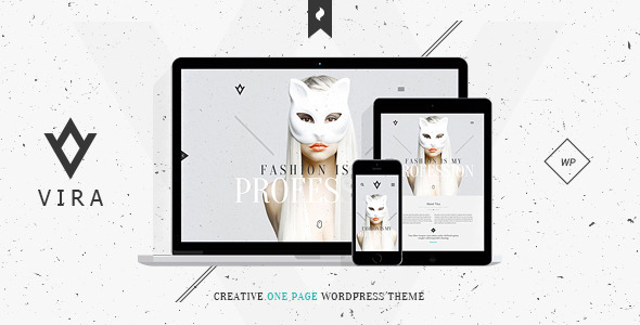 ThemeForest VIRA Creative One Page WordPress Theme 10628162