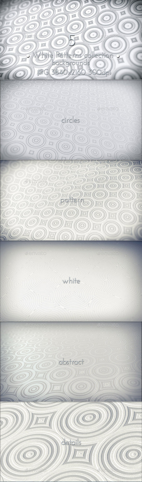 GraphicRiver White Abstract Patterns 10718739