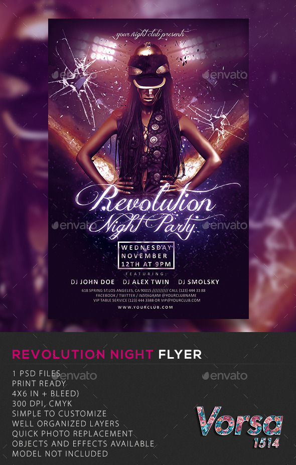 GraphicRiver Revolution Night Flyer 10718794