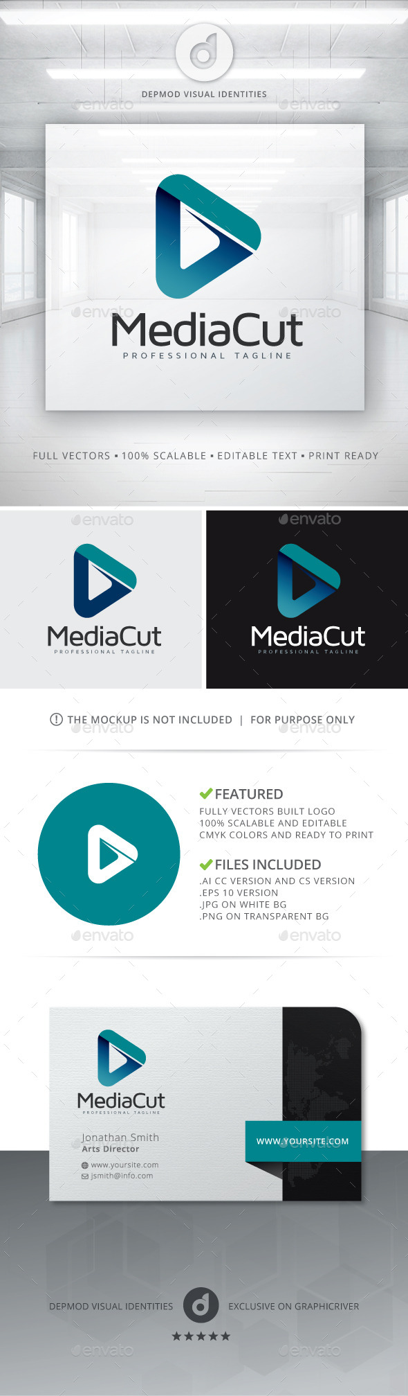 GraphicRiver Media Cut Logo 10702321