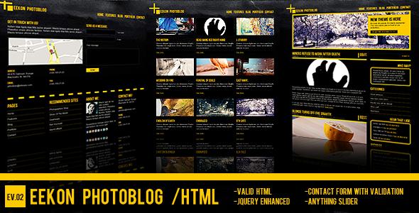 Eekon Photoblog - HTML site for photo amateurs.