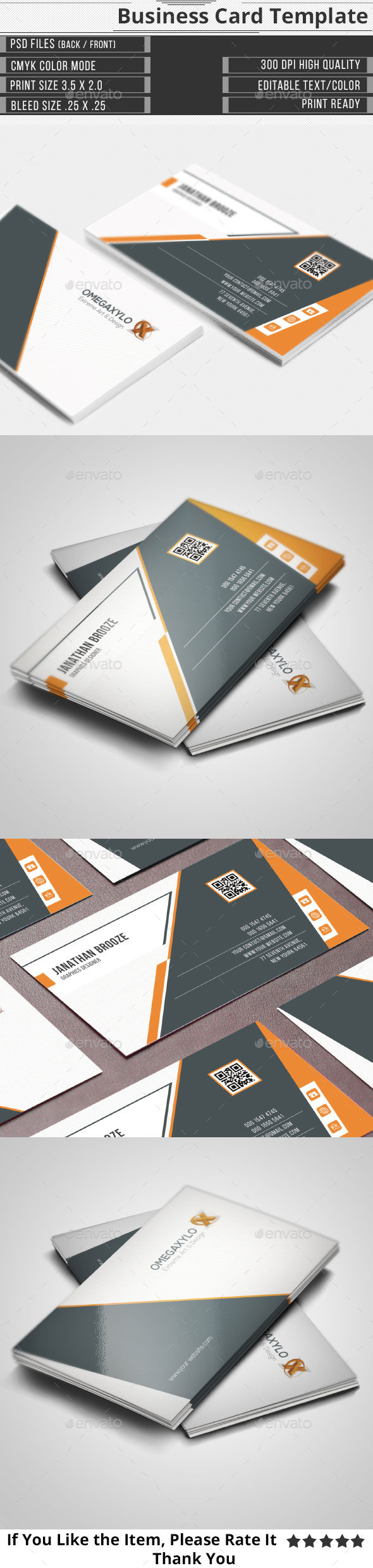 GraphicRiver Corporate Business Card 10719706