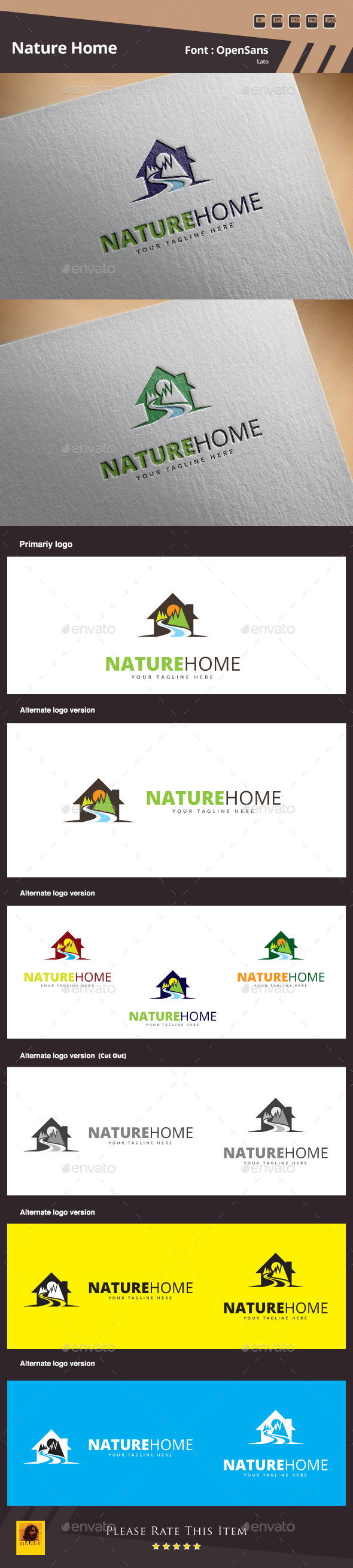 GraphicRiver Nature Home Logo Template 10720147