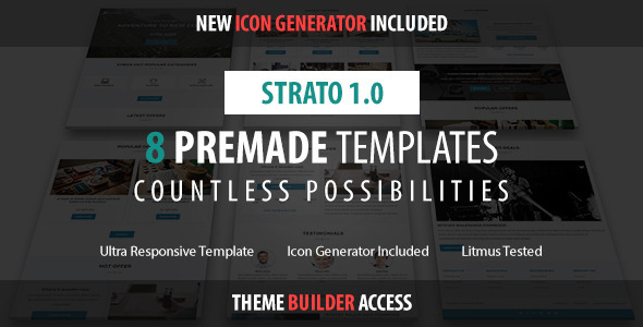 ThemeForest Strato Responsive Email & Builder Access 10720198