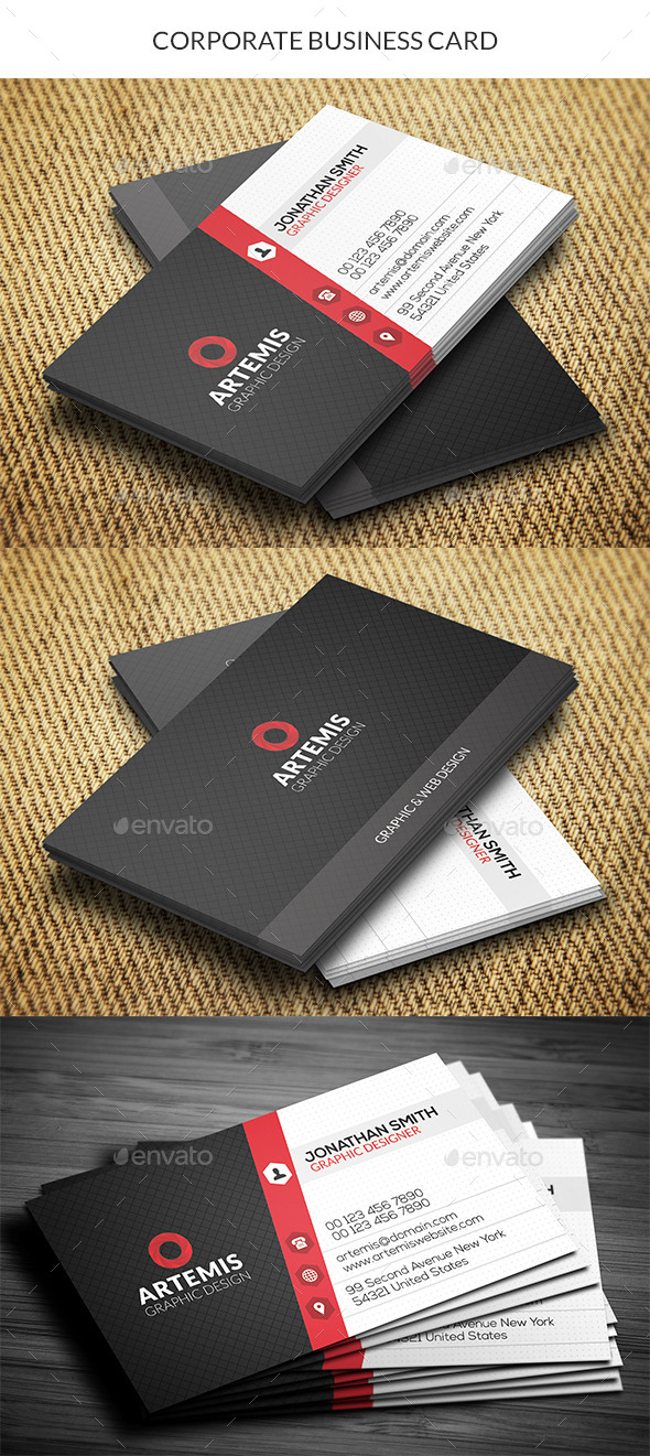GraphicRiver Corporate Business Card 10720247