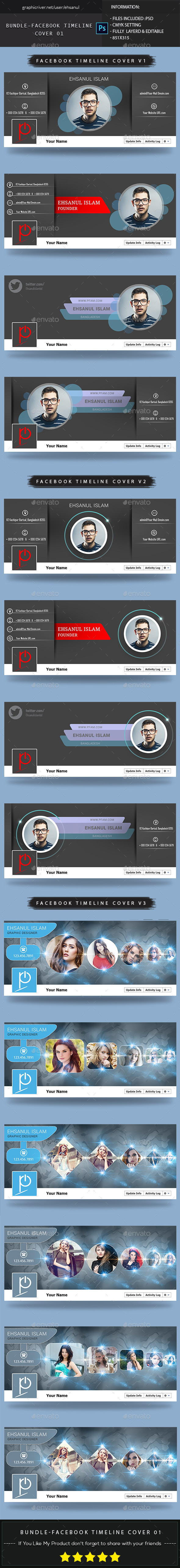 GraphicRiver Bundle Facebook Timeline Cover 1 10720433
