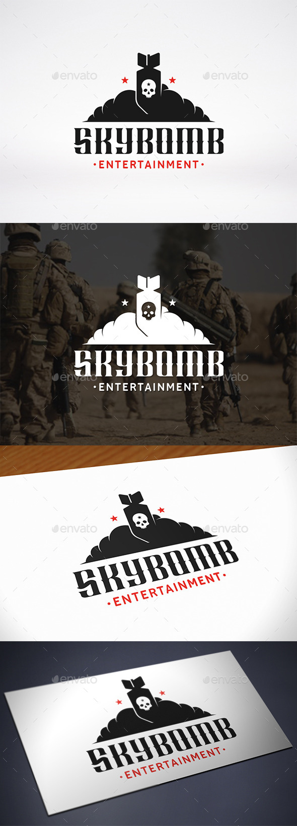 GraphicRiver Sky Bomb Logo Template 10720491
