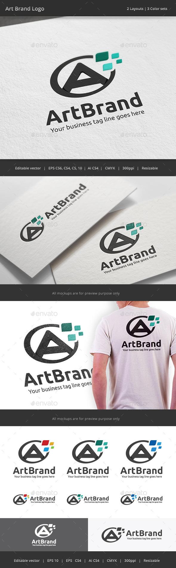 GraphicRiver Art Brand Letter A Logo 10720501