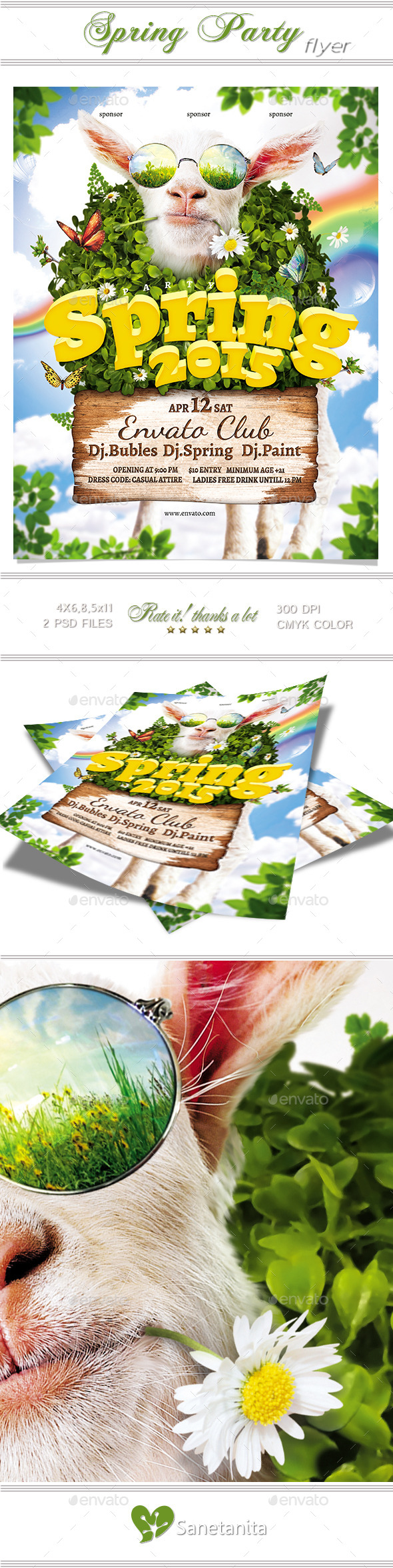 GraphicRiver Spring Party Flyer 2 10660711