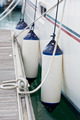 Sailboat Side Fenders CloseUp. Boat protection - PhotoDune Item for Sale