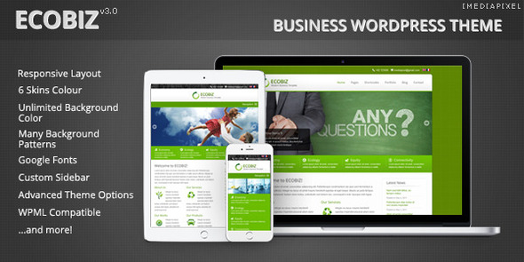 ECOBIZ -  Business WordPress Theme - Business Corporate