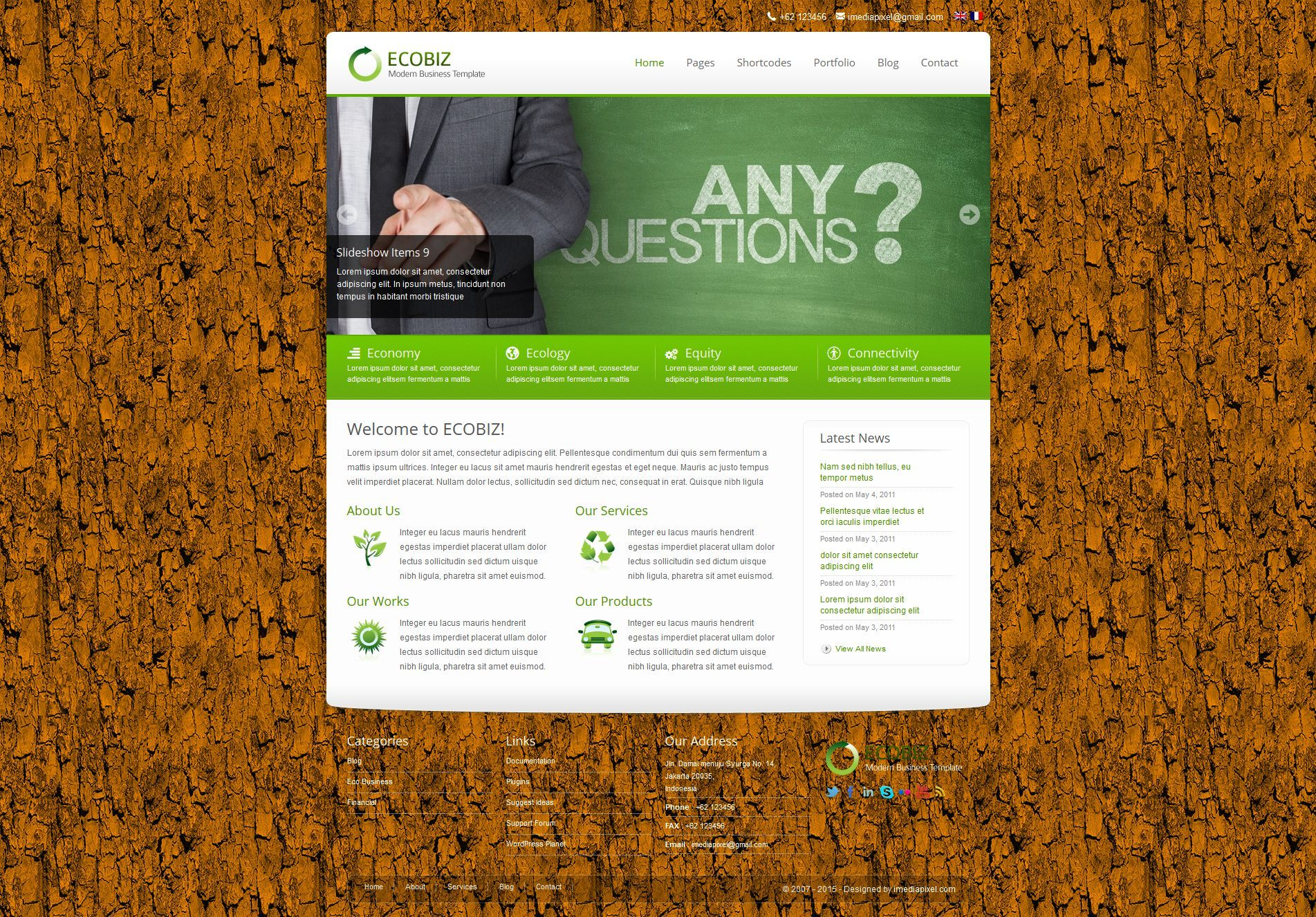 ECOBIZ -  Business WordPress Theme -