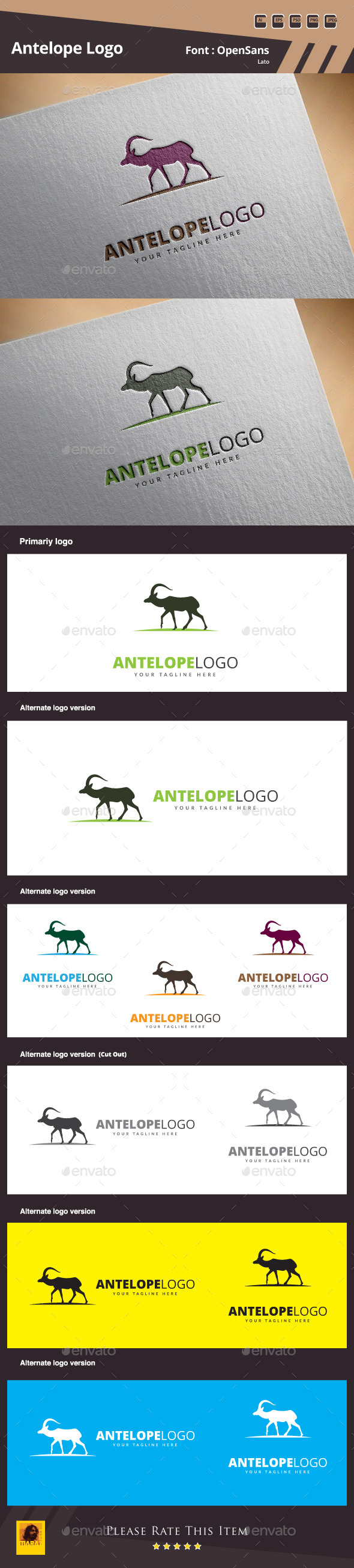 GraphicRiver Antelope Logo Template 10720929