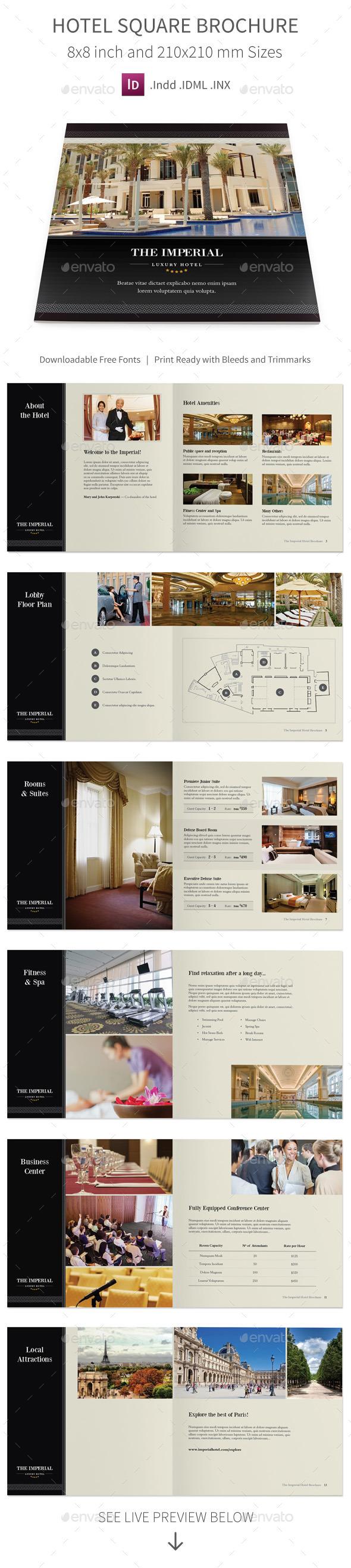GraphicRiver Hotel Square Brochure 10721469