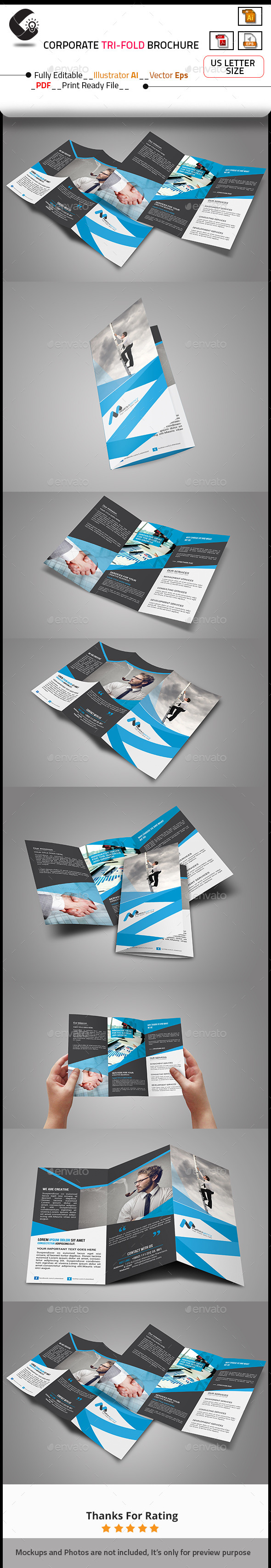 GraphicRiver Tri-Fold Brochure Template 10721503
