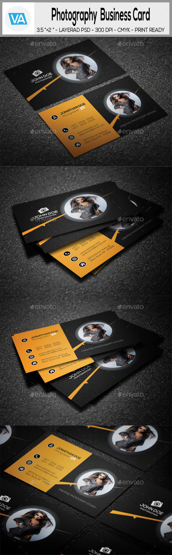 GraphicRiver Photography Business Card 10721543