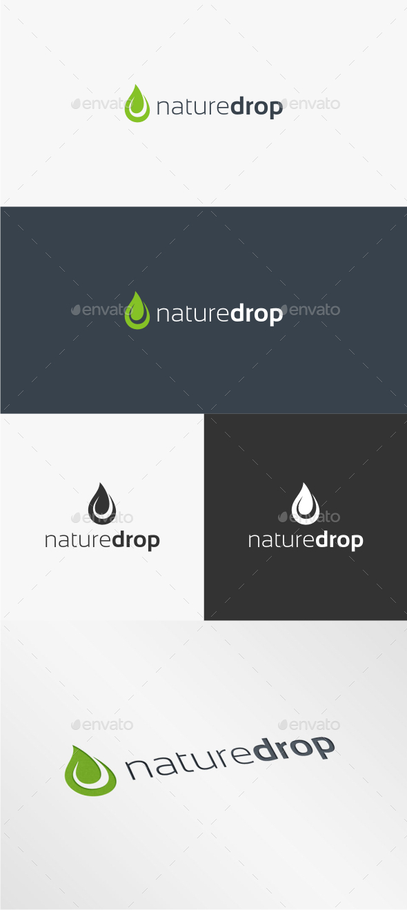 Nature Drop - Logo Template