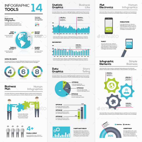 GraphicRiver Infographic Vector Templates Collection 14 10721669