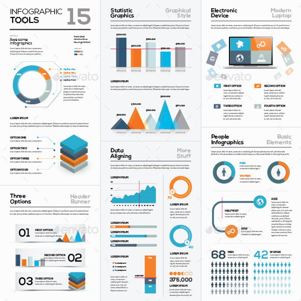 GraphicRiver Infographic Vector Templates Collection 15 10721703
