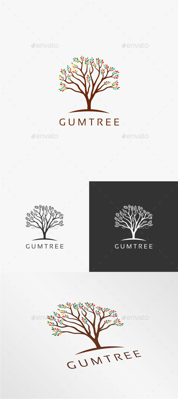 GraphicRiver Gum Tree Logo Template 10721826