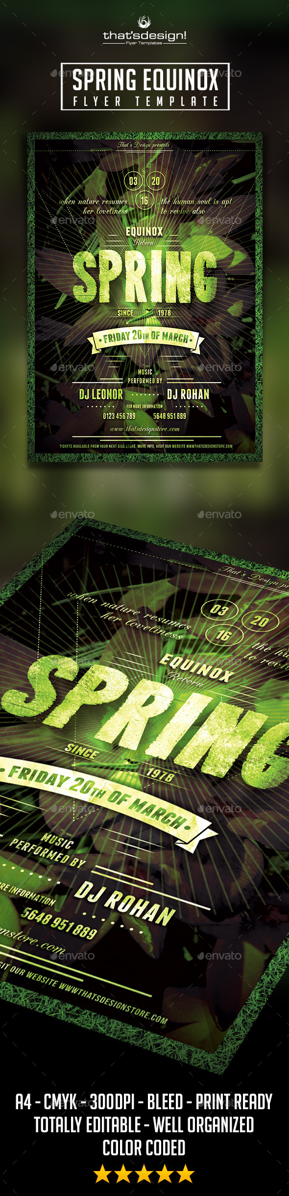 GraphicRiver Spring Equinox Flyer Template 10721834