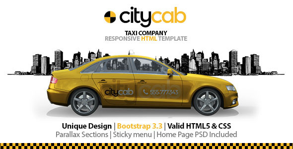 ThemeForest CityCab Taxi Company Responsive HTML Template 10721839
