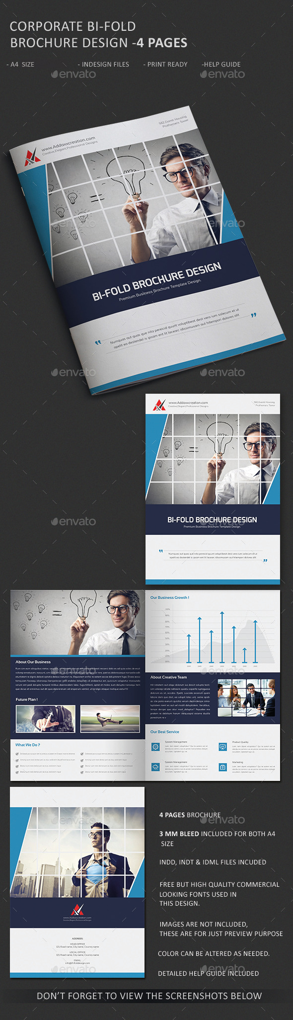 GraphicRiver Corporate Business Agency Bi-fold Brochure 10667005