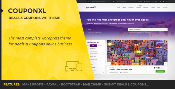 ThemeForest CouponXL Coupons Deals & Discounts WP Theme 10721950
