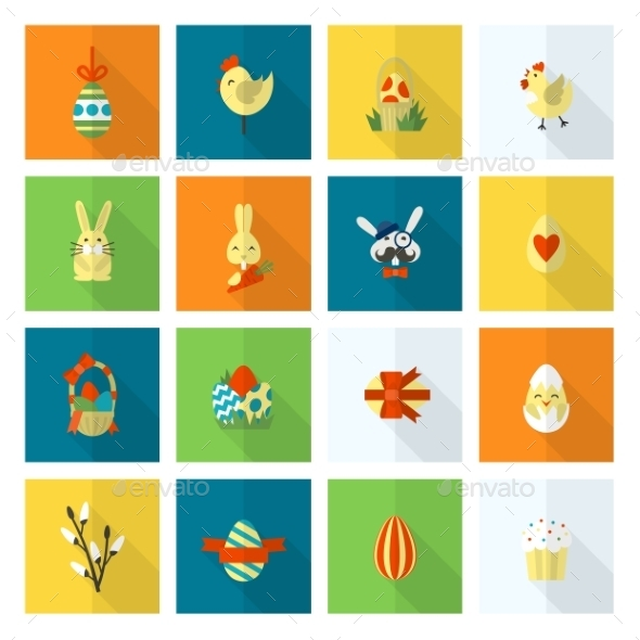 GraphicRiver Celebration Easter Icons 10722327