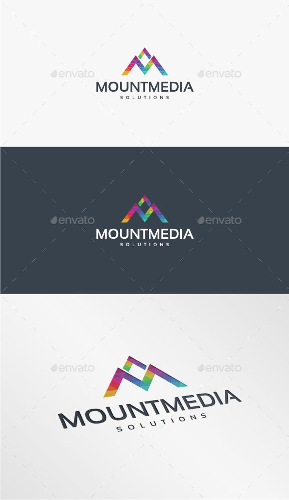GraphicRiver Mount Media Logo Template 10722394