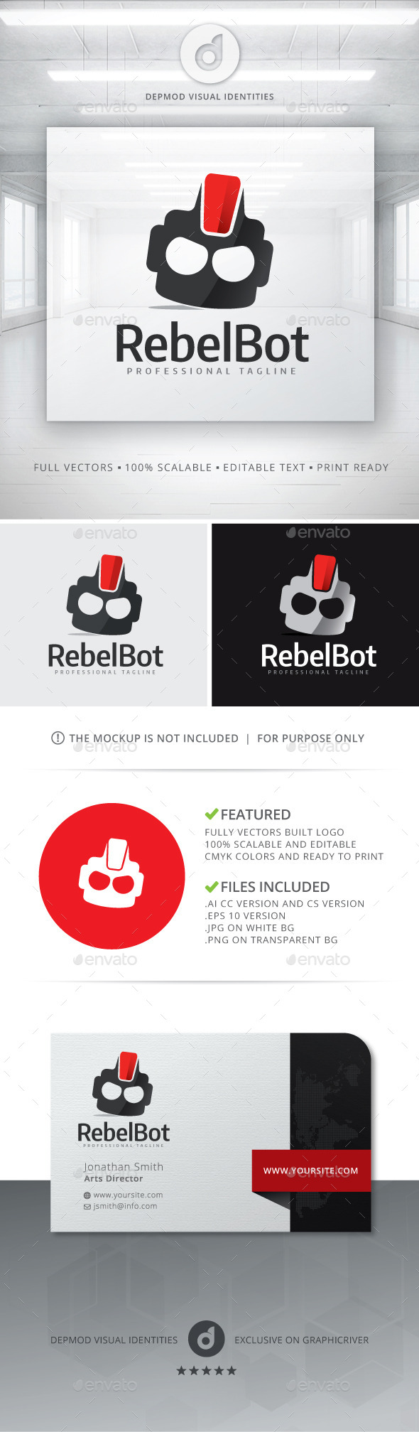 GraphicRiver Rebel Bot Logo 10722405