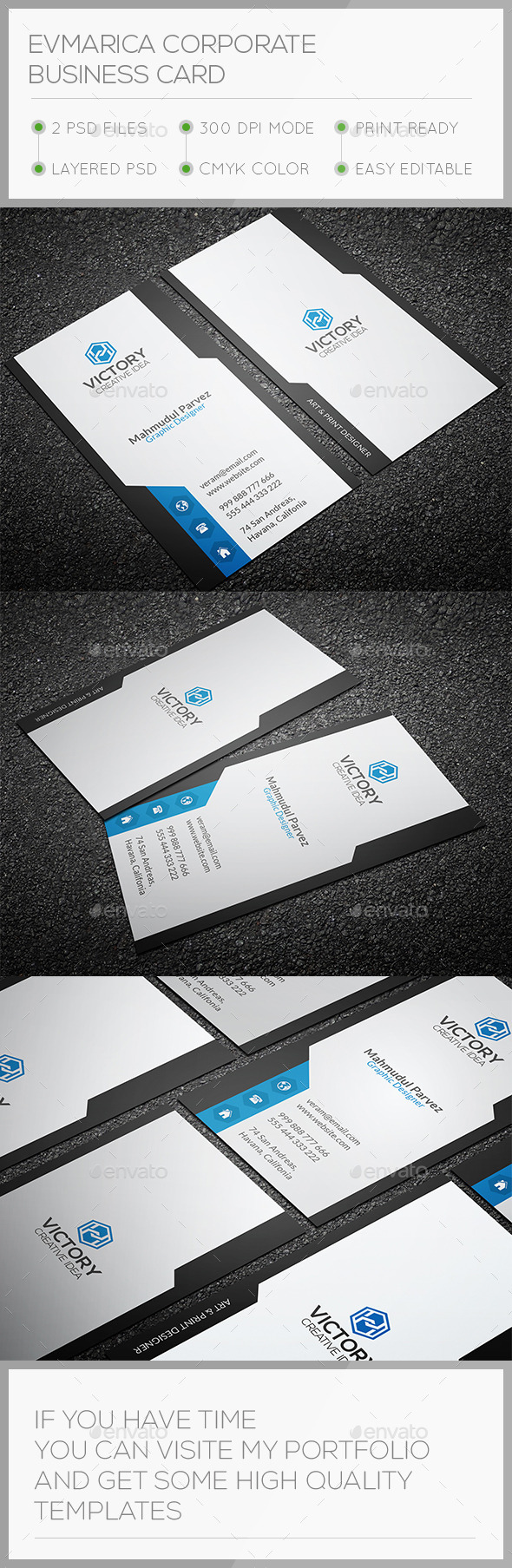GraphicRiver Evmarica Corporate Business Card 10722436