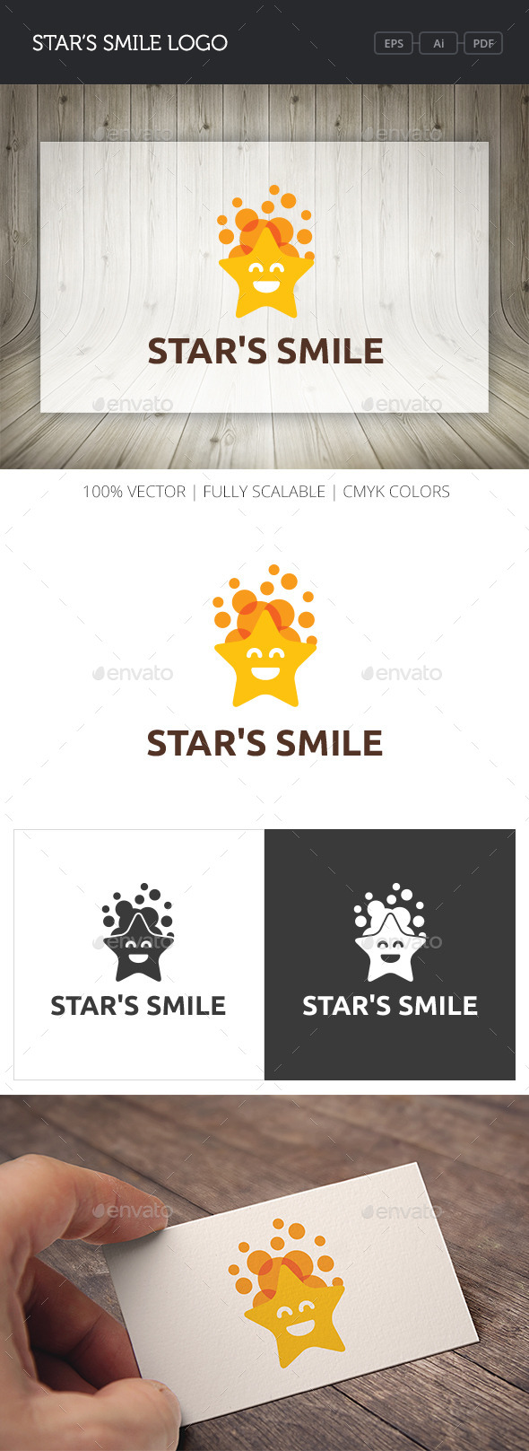 GraphicRiver Star s Smile Logo 10722527