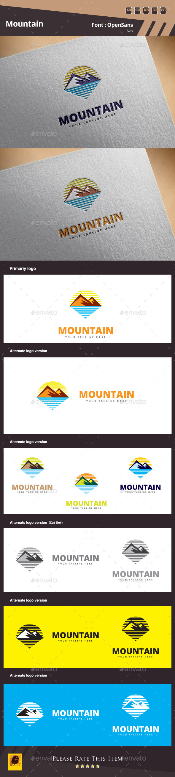 GraphicRiver Mountain Logo Template 10722567