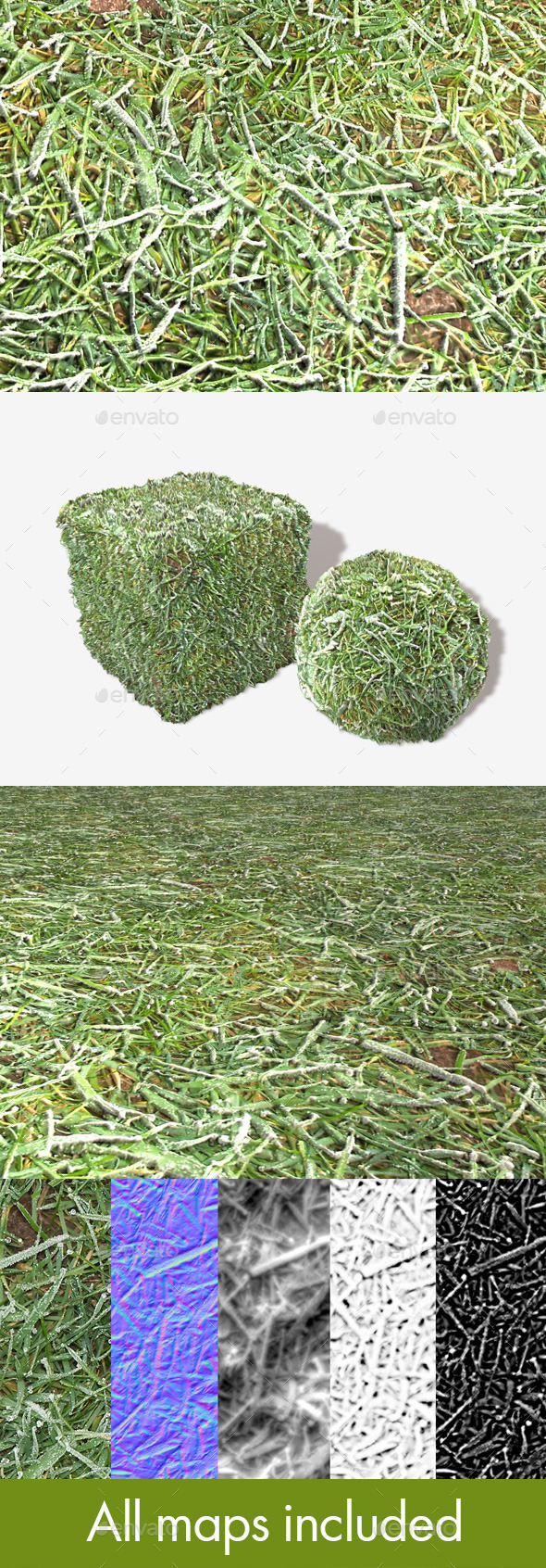3DOcean Grass Frost Close Seamless Texture 10722874