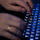 Male Hands Typing on the Keyboard - VideoHive Item for Sale
