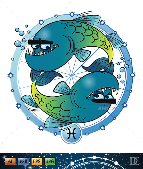 GraphicRiver Astrology Sign Pisces 10723071