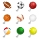Sports Ball Push Pins - GraphicRiver Item for Sale