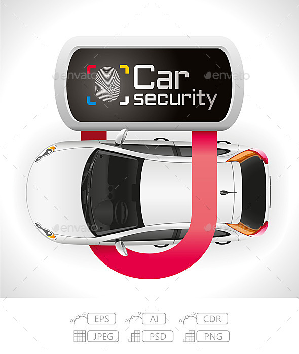 GraphicRiver Car Lock Security 10723303